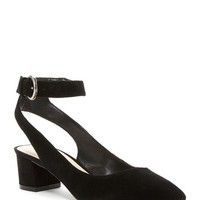 Nine West | Babes Suede Block Heel Dress Shoe | Nordstrom Rack