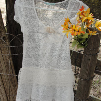 Lacey whimsy faery top