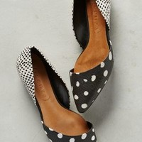 Vicenza Scaled Dot D'Orsays Black & White