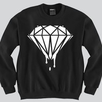 Diamond Dripping Crewneck Funny and Music