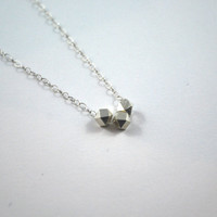 Sterling silver delicate necklace, bridesmaids gift, girlfriend gift, sister mother friend gift, thoughtful gift, yesterday today tomorrow