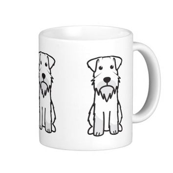 Miniature Schnauzer Dog Cartoon Classic White Coffee Mug