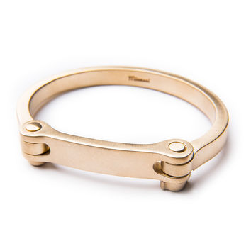 Men's Medium Bold Cuff, Brass - Miansai