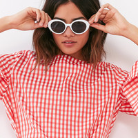 Sadie Slim Oval Sunglasses | Urban Outfitters