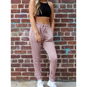 Smooth Moves Joggers | Blush