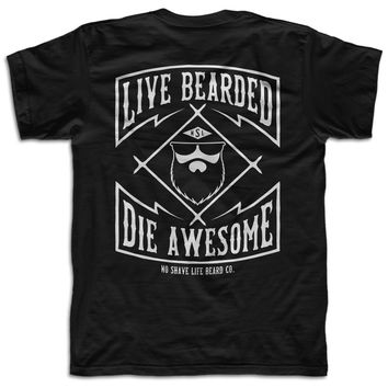 Live Bearded '17 Men's T-Shirt