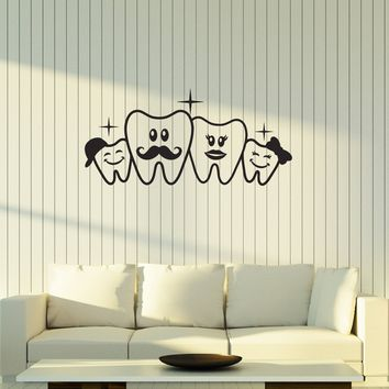 Vinyl Decal Style Decoration Wall Sticker Teeth Dental Doctor Decor Unique Gift (g052)