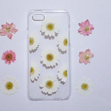 iPhone 6s Case, iPhone 6s Plus Case Clear, Pressed Flower iPhone 6 Case, Clear iPhone 6 plus Case, iPhone 6 Plus Case,daisy iphone case