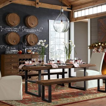 High Quality GRIFFIN RECLAIMED WOOD FIXED DINING TABLE