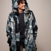 Marble Fox Faux Fur Coat