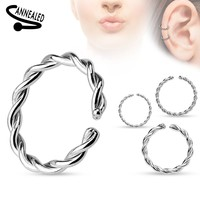 Braided Rounded Ends Cut Cartilage / Tragus Earring