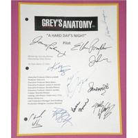 "Grey's Anatomy Pilot Episode ""A Hard Day's Night"" TV Script Screenplay Signed Patrick Dempsey, Ellen Pompeo, Justin Chambers,Katherine Heigl"