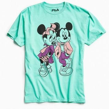 Disney X FILA Mickey + Minnie Mouse Squad Tee | Urban Outfitters