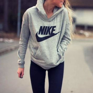 "Fashion ""NIKE"" Hooded Top Sweater Pullover Sweatshirt"