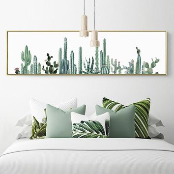 SURE LIFE Nordic Cactus Flower Poster Plant Canvas Printing Paintings Wall Art Pictures Bedroom Living Room Home Office Decor