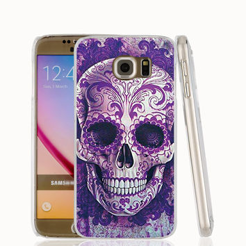 The blue skull Red skeleton head cell phone case cover for Samsung Galaxy S7 edge PLUS S6 S5 S4 S3 MINI