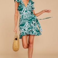 Never Been So Clear Green Print Dress