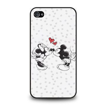 MICKEY AND MINIE MOUSE KISSING Disney iPhone 4 / 4S Case Cover