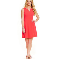 GB V-Neckline Fit-and-Flare Dress | Dillards