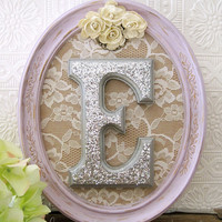 Purple Nursery Baby Girl Nursery Decor Wooden Nursery Letters Shabby Chic Nursery Hanging Wall Letters
