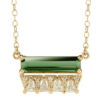 Tourmaline + Diamond Necklace
