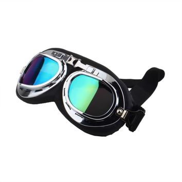 2016 motorcycle goggle GOGGLES racing bicycle bike Scooter Steampunk Cruiser Helmet Eyewear glasses hot sale