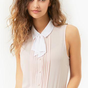 Pintucked Bow Top