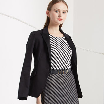 Women business slim blazers long-sleeved shrug suit Single Breasted Button Coat Women spring and autumn all-match women blazers