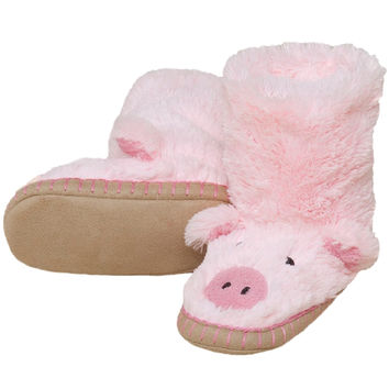 Piggy Youth Fuzzy Fleece Slippers