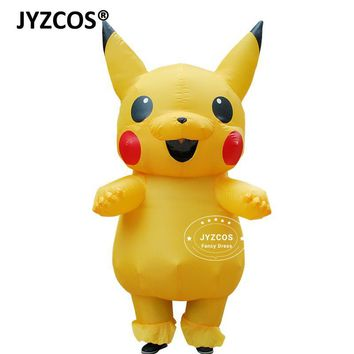 JYZCOS Blowup Pikachu  Cosplay Jumpsuit Inflatable Halloween Costumes for Adults Kids Outfit Men Women Mascot Fancy DressKawaii Pokemon go  AT_89_9