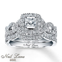 Neil Lane Bridal Set 1 1/6 ct tw Diamonds 14K White Gold