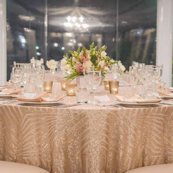 Sparkly Sequin Tablecloth | Art Deco Wedding | Geometric Wedding