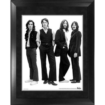 ONETOW The Beatles Through the Years 1969  Group Pose White Background Framed 16x20 Photo