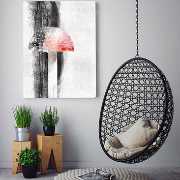 Mushroom art print, modern wall decor, contemporary print, scandinavian art print, wall art printable, printable poster, printable art