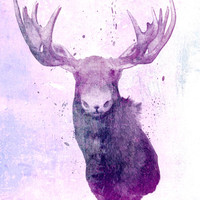 Moose Springsteen Art Print by Lucy Evans | Society6