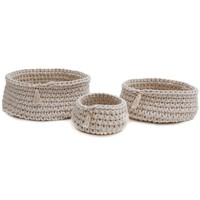 Baya Ivory Basket Set by Pom Pom at Home