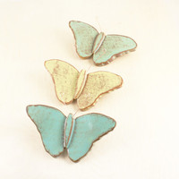 Lovely Butterfly Wall Hanging - Ceramic Wall Art