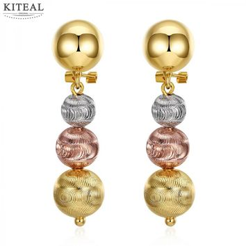 best friends Rose Gold color earings fashion jewelry silver/rose/gold color Sand beads brinco diy