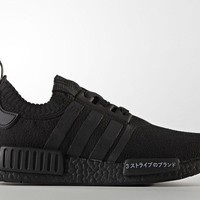 NEW Adidas NMD Nomad R1 PK Primeknit Japan Pack Triple Black BZ0220 Size 14