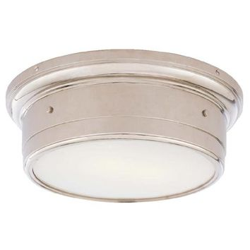 Visual Comfort and Company SS4016CH-WG Large Chrome Siena Flush Mount Ceiling Light
