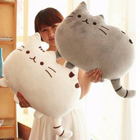 Kawaii Brinquedos New Pusheen Cat Pillow With Zipper Only Skin Without Cotton