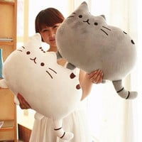 Kawaii Brinquedos New Pusheen Cat Pillow With Zipper Only Skin Without PP Cotton Biscuits Kids Toys Big Cushion Cover Peluche