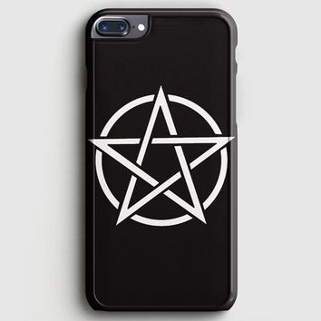 Pentagram Symbol Goth Metal Wiccan Magic iPhone 7 Plus Case