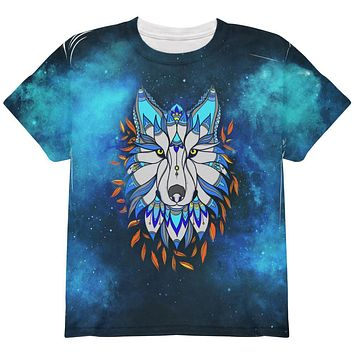 Totem Wolf is my Spirit Animal All Over Youth T Shirt