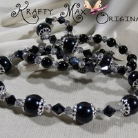 Black and Grey Prima Beads Blog Team New Years Necklace Creation