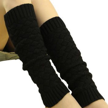 women winter boot socks knitted leg warmer scaly thigh high leg warmers four colors offered to you chaussette femme #654 SM6
