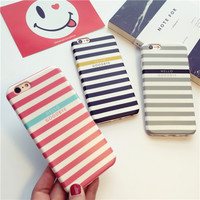 Fashion simple stripes mobile phone case for iphone 6 6s 6plus 6s plus + Nice gift box!