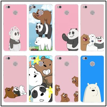 Soft TPU Cell Phone Cases Cover for Xiaomi Redmi Mi Note 2 3 3S 4 4A 4X 5 5X 5S 5A 6 6X A1 Pro Plus We Bare Ice Bear Panda Style