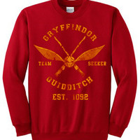 gryffindor seekers unisex sweatshirt custom crewneck sweatshirt for unisex adult made by USA