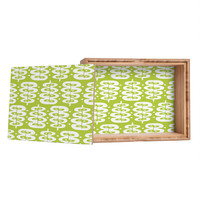 Heather Dutton Fern Frond Green Jewelry Box